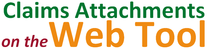 Claims Attachments on the Web Tool